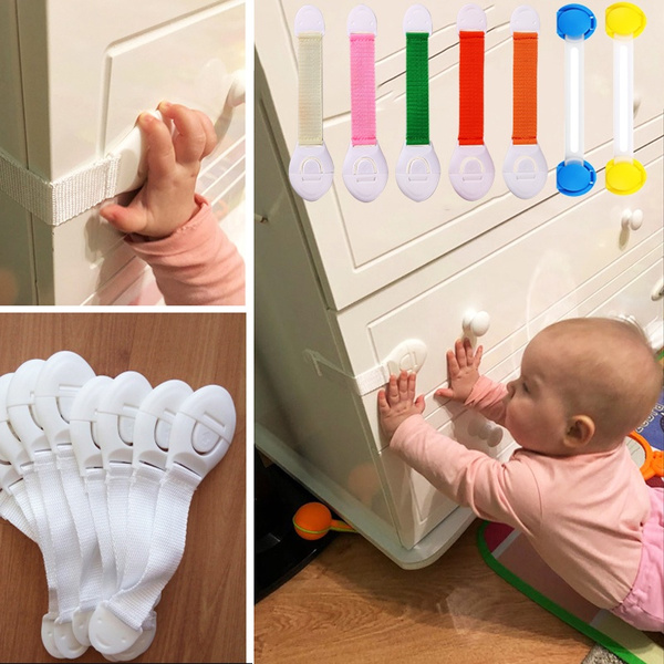 2x pcs Kids Child Baby Pet Safety Lock Proof Door Cupboard Fridge Cabinet Drawer
