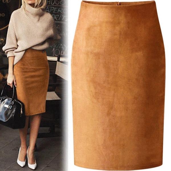 Fashion Skirts, pencil skirt, Office, Elastic