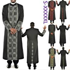 Stand Collar, priestrobe, men coat, Fashion