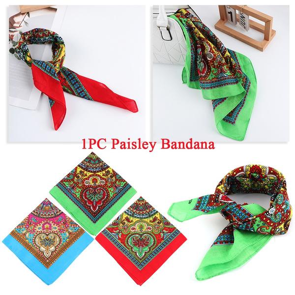 Supplies Hair Band Paisley Bandana Wristband Printed Headdress Square Scarves