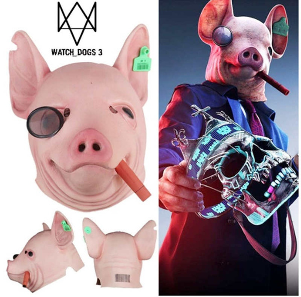 New Game Watch Dogs Legion Cosplay Mask Watch Dogs3 Winston Pig Mask King Of Hearts Mask Halloween Props Mask Wish