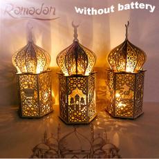 Wood, Decor, ramadanlamp, led