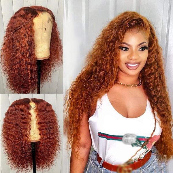 wig, longredwig, orangewig, Lace