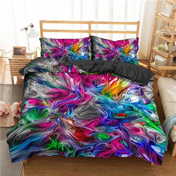 rainbow, rainbowcolor, Abstract Oil Painting, Bedding