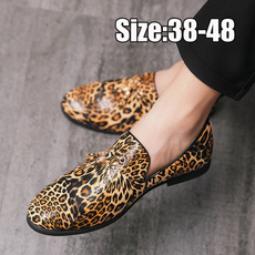 partyshoe, leather shoes, casual leather shoes, leopard print