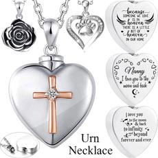 Steel, Heart, ashesjewelry, Flowers