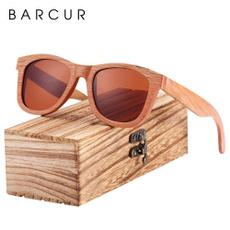 Moda, Natural, sunglasses men, Wooden