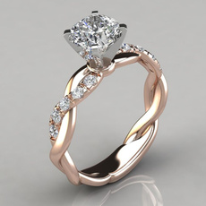 DIAMOND, Princess, wedding ring, gold