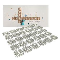 diesstenciltemplate, alphabetletter, Stamps, albumdecoration