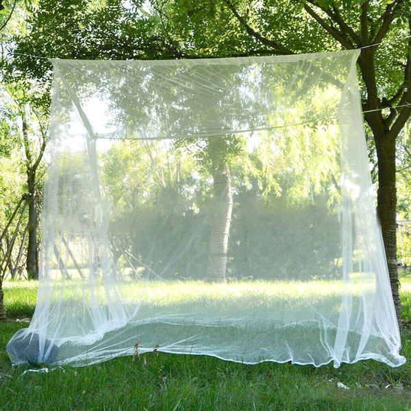 White Square Large Mosquito Control Outdoor Tent Mosquito Net Insect Prevention