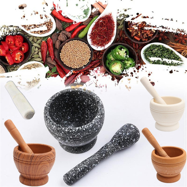 Guacamole Herb Spice Mix Grinding Resin Mortar and Pestle Set Grinding Bowl