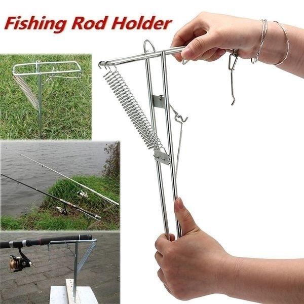 Steel, fishingstandholder, fishingrodholder, automaticfishingrodbracket