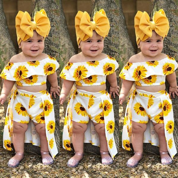 Summer, Shorts, Sunflowers, sundress