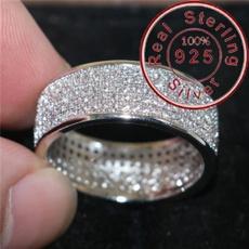 Sterling, ringsformen, DIAMOND, Women Ring