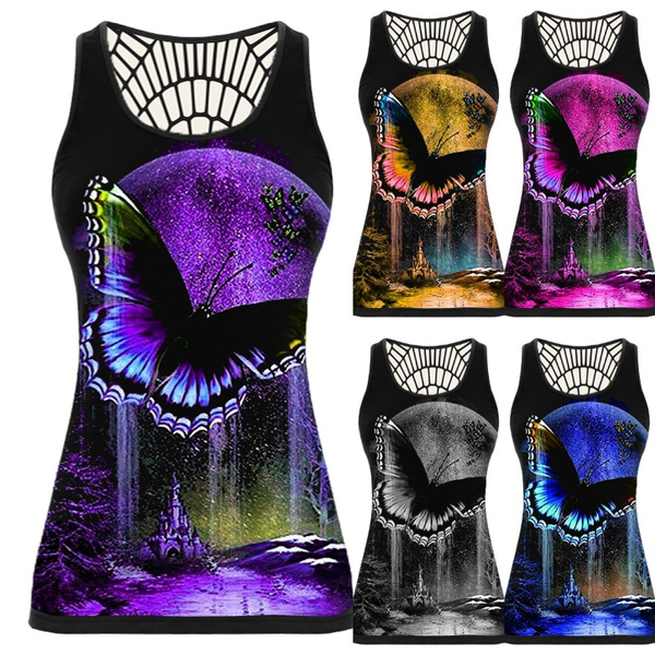 butterflyprint, butterfly, Vest, Plus Size