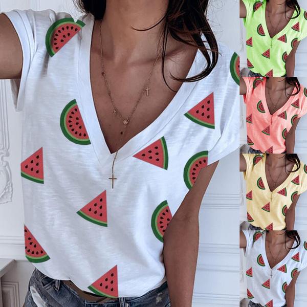 Summer, Plus Size, Necks, Sleeve