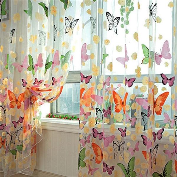 butterfly, curtainsdrapesvalance, livingroomwindowcurtain, butterflysheercurtain