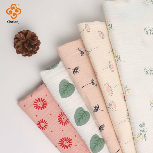 Cotton fabric, printedgauzefabric, diygauzefabric, Sewing