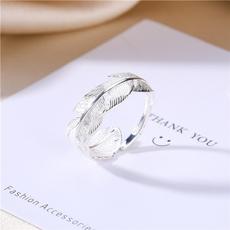 Sterling, leaves, Fashion, wedding ring