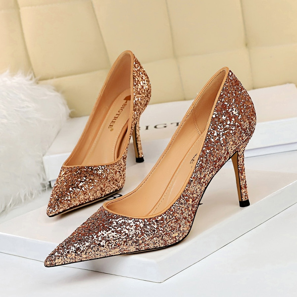 Luxury 2020 Glitter Prom Shoes Silver