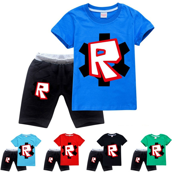 Roblox How To Sell Shirt 2020 Summer Boys And Girls New Fashion Casual T Shirt And Short Sweatpants Hot Sell Roblox Cool O Neck T Shirt Tops Children Casual Loose Shorts Wish