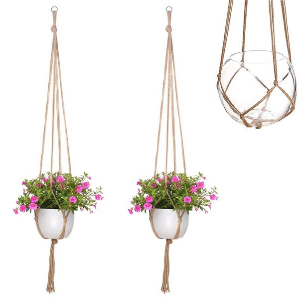 Plants, Gardening, Garden, flowerpothangingbasketrope