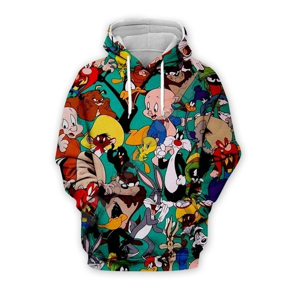 bugsbunnytshirt, 3D hoodies, Fashion, rabbit