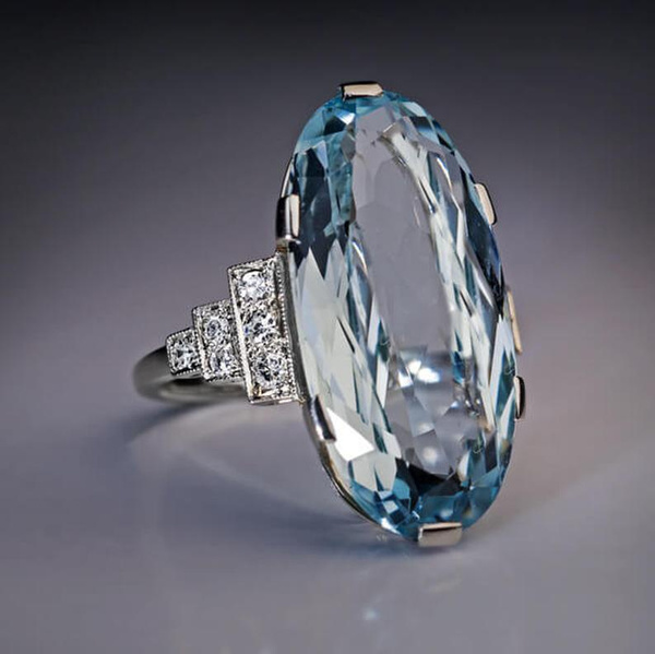 Sterling, DIAMOND, wedding ring, Cocktail