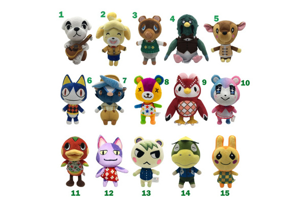 8/'/' Animal Crossing Tom Nook KK Rover Plush Toy Soft Stuffed Doll Toy Kids Gifts