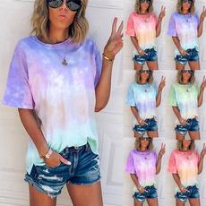 shirtsforwomen, Summer, Plus Size, Colorful