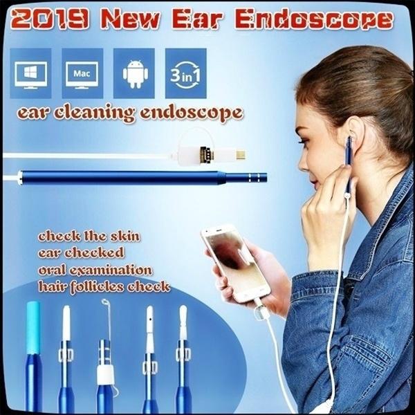Mini, nosethroatinspection, earwaxearpick, inspectioncamera