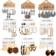 moonearring, Fashion, Pearl Earrings, Acrylic