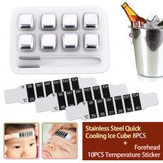 Steel, Stainless, foreheadtemperaturetestpapersticker, feversticker
