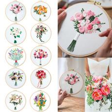 Decor, Flowers, needleworkpainting, Handmade