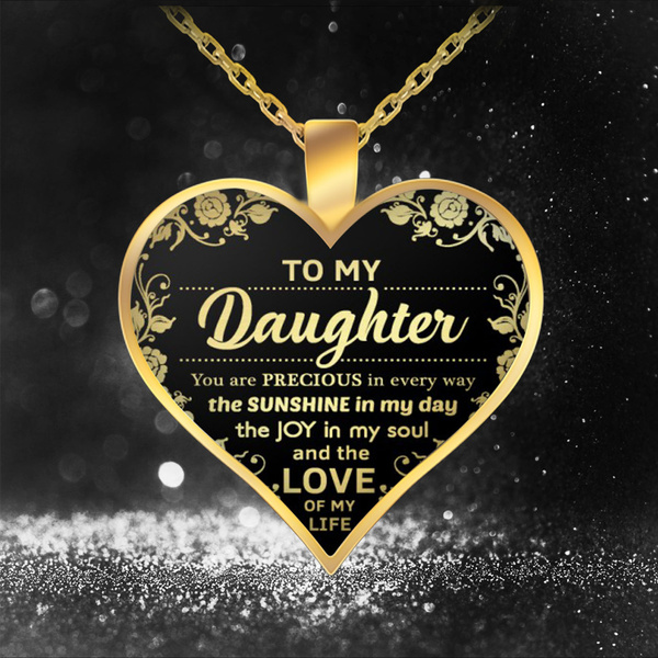 Heart, goldchainnecklace, Jewelry, Family