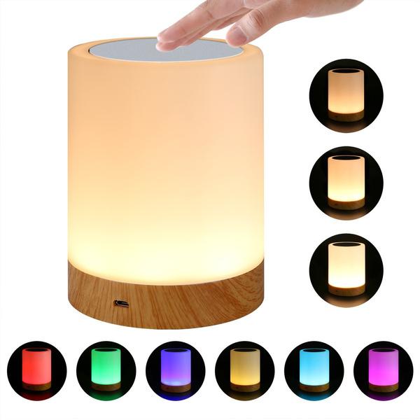 touchbedsidelamp, warmwhiteledlight, touchsensorledtablelamp, lights