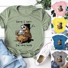 sloth, Fashion, crop top, Shirt