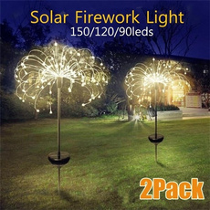 solarpoweredgardenlight, Outdoor, fireworklight, Garden
