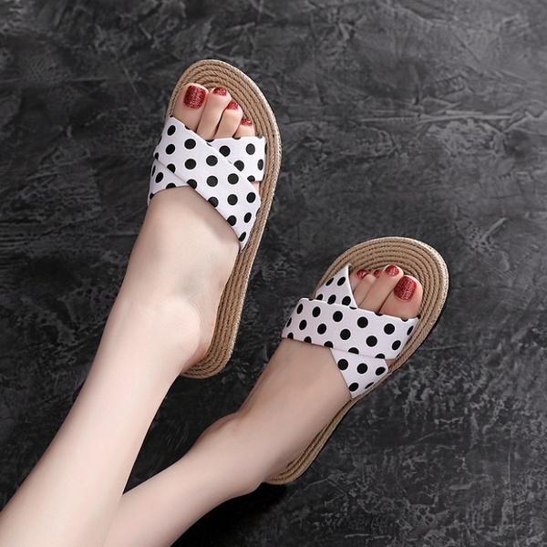 casual shoes, Summer, polkadotslipper, Sandals