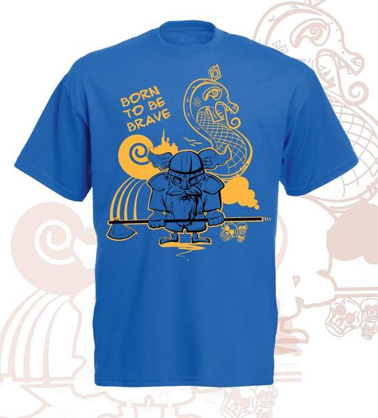 borntobebravequotetextgraphictee, cute, cutevikingtshirt, Shirt