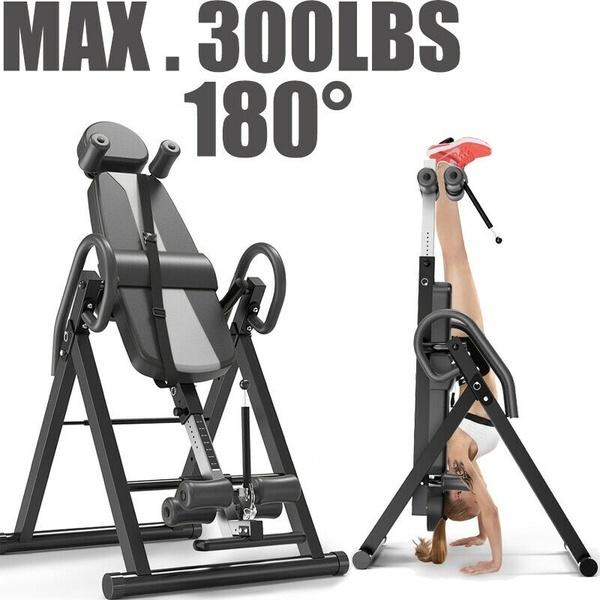 Inversion Table Fitness Chiropractic Back Stretcher Heavy Duty Reflexology Mat
