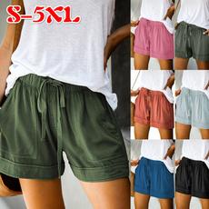 Women Pants, Summer, Shorts, high waist