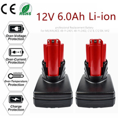 Rechargeable, Capacity, Battery, milwaukee12v