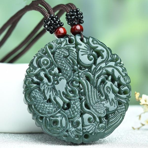 Set, Jewelry, Phoenix, jade