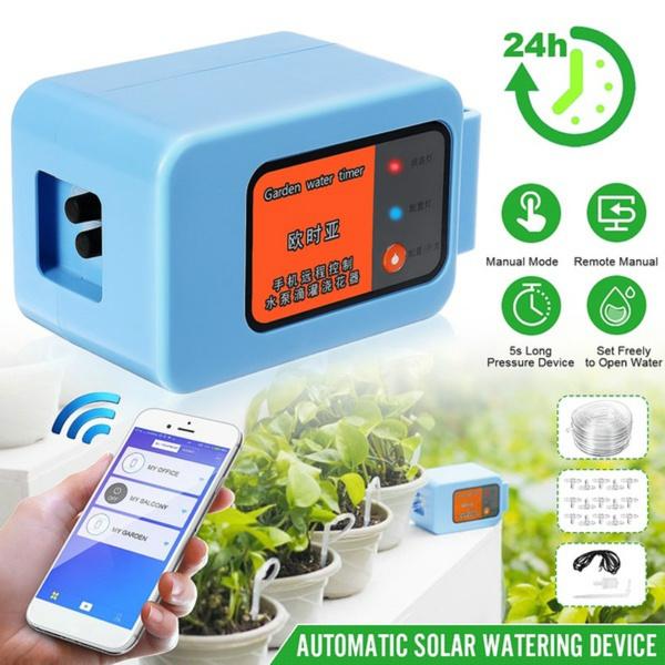 WIFI Automatic Irrigation Garden Irrigation System Water Dripper Timer Pump Tool