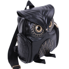 Owl, School, school bags for teenagers, leather