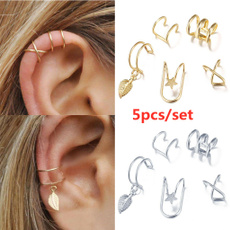 Jewelry, gold, cartilage earrings, Cartilage