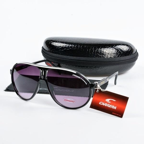19 Color Men Women Retro Sunglasses Unisex Square Matte Frame Carrera With Box