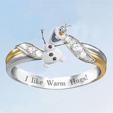 snowman, cute, snowmanring, DIAMOND