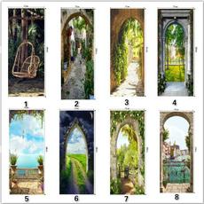 Summer, Bathroom, Door, Home Decor